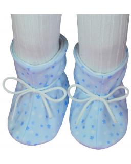 Kojenecké botičky bavlna velké hvězdička