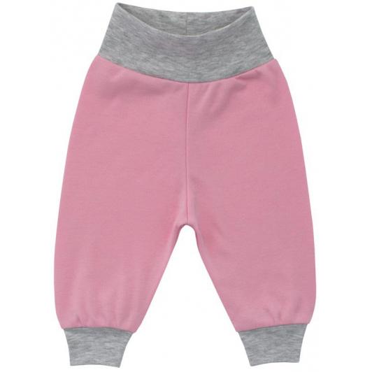 Kojenecké tepláčky růžová bavlna vel. 80 - 86