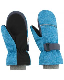 Dětské zimní rukavice Softshell melír šedá vel. 3 - 6 let