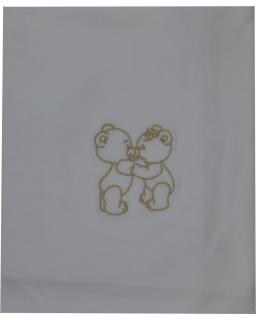 Dětská deka dvojitá bavlna jednobarevná
