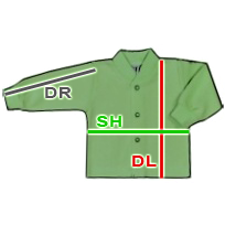 ESITO - Tabulka velikostí kabátků