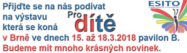 Výstava Pro dítě Brno 15. až 18.3.2018