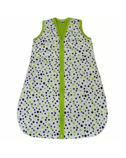 Spací pytel velikost 86 - 92 zelený puntík