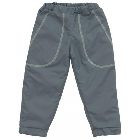 Šusťákové kalhoty zimní vel. 110 - 116 šedá