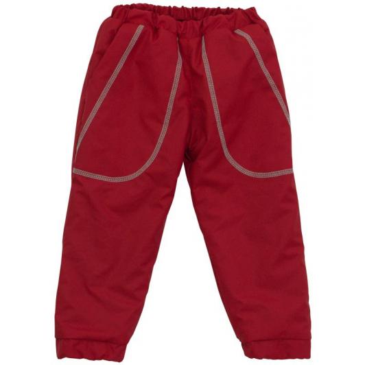 Šusťákové kalhoty zimní vel. 122 - 128 červená