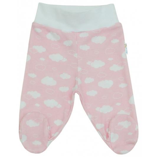 Polodupačky bavlna potisk obláček růžová