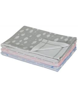 Letní dětská deka dvojitá bavlna obláček růžová