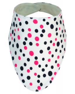 Slintáček bavlna jemný puntík růžová