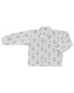 Kabátek plyš žirafa růžová