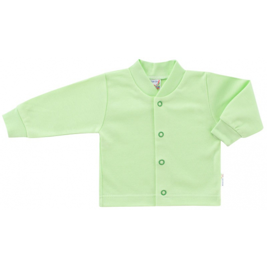 Kabátek bavlněný jednobarevný zelená