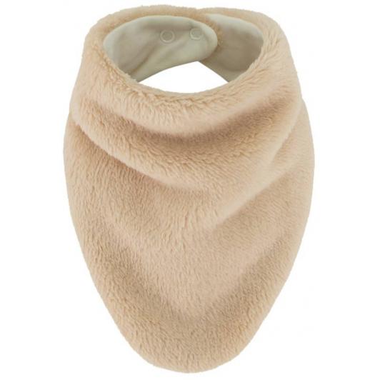 Šátek na krk Lara podšitý bavlnou  béžová