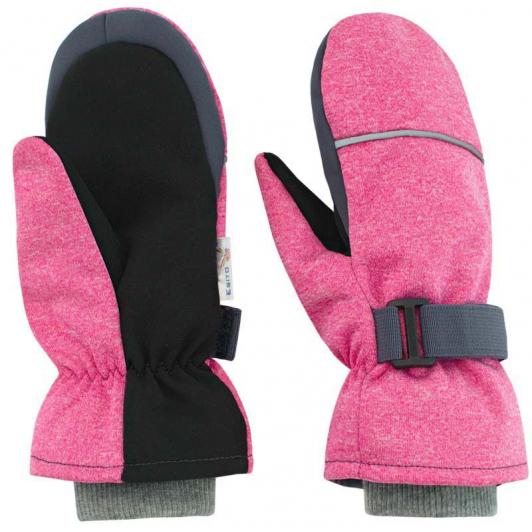 Dětské zimní rukavice Softshell  melír růžová   vel. 3 - 6 let