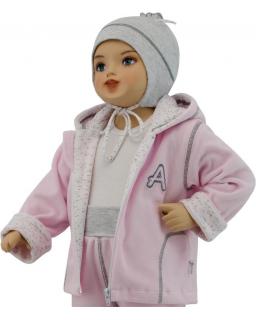 Dětská jarní bunda Adam šedá vel. 56 - 68