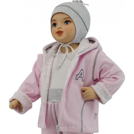 Dětská jarní bunda Adam růžová  vel. 56 - 68