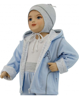 Dětská jarní bunda Adam růžová vel. 74 - 86