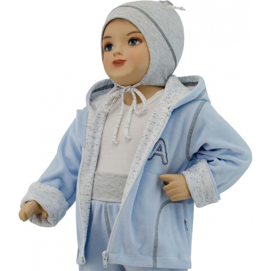 Dětská jarní bunda Adam modrá  vel. 74 - 86