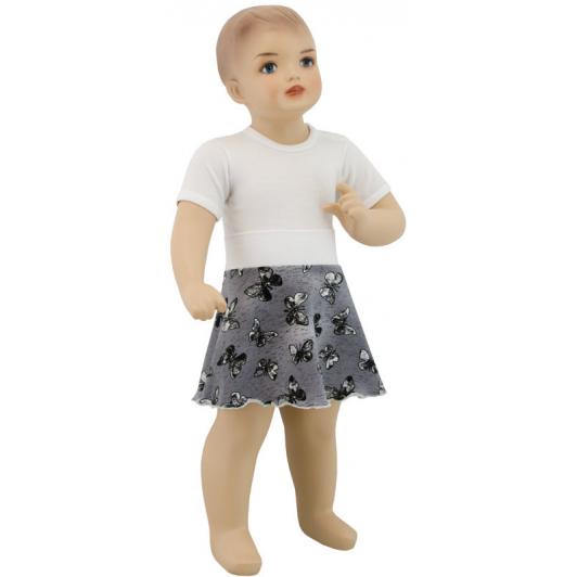 Dívčí sukně motýl bílá vel. 68 až 92