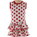 Dívčí letní šaty puntík vel. 92 a 98