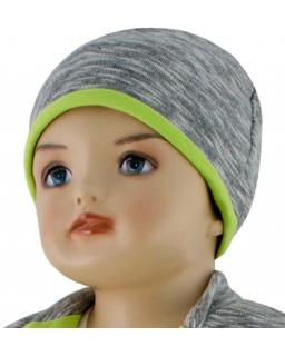 Dětská čepice David zelená