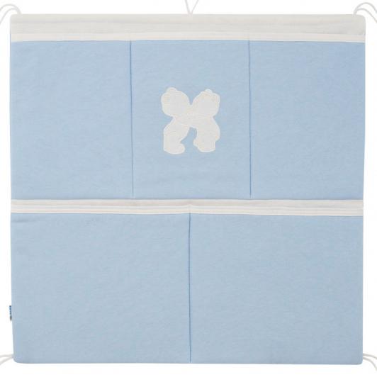 Kapsář na postýlku jednobarevný modrá