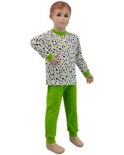 Dětské pyžamo zelený puntík vel. 116 - 122