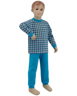 Dětské pyžamo tyrkysové kostky vel. 116
