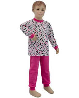 Dívčí pyžamo růžový puntík vel. 92 - 110