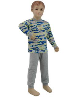 Chlapecké pyžamo žlutý maskáč vel. 116