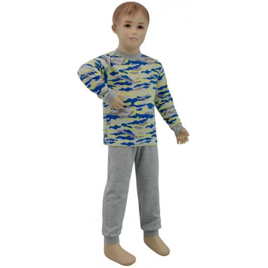 Chlapecké pyžamo žlutý maskáč vel. 86 - 110