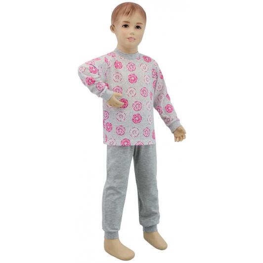 Dívčí pyžamo růžový donut vel. 86 - 110