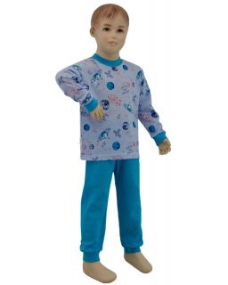 Chlapecké pyžamo planety na modré vel. 80 - 110