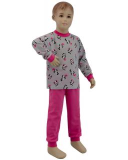 Dívčí pyžamo panda na šedé vel. 92 - 110