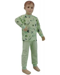 Chlapecké pyžamo zelené planety vel. 116 - 122