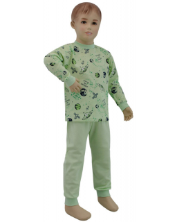 Chlapecké pyžamo zelené planety vel. 92 - 110