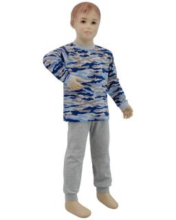 Chlapecké pyžamo modrý maskáč vel. 116 - 122