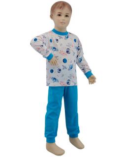 Chlapecké pyžamo planety na bílé vel. 80 - 110