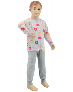 Dívčí pyžamo žlutý donut vel. 116 - 122