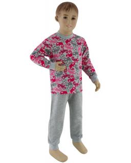 Dívčí pyžamo růžový chameleon vel. 116 - 122