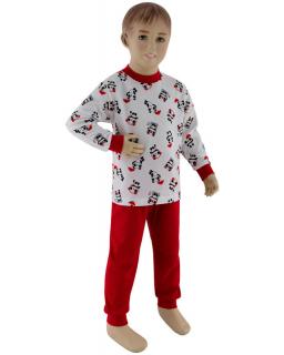 Dívčí pyžamo panda na bílé vel. 92 - 110