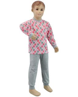 Dívčí pyžamo srdce vel. 116 - 122