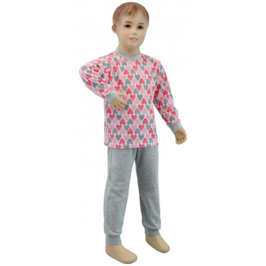 Dívčí pyžamo srdce vel. 80 - 110