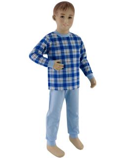 Chlapecké pyžamo tmavé modré kostky vel. 116 - 122