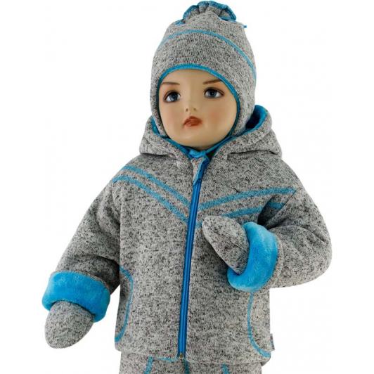 Dětská zimní bunda Oliver tyrkysová vel. 56 - 68