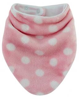 Šátek na krk Puntík podšitý bavlnou růžová